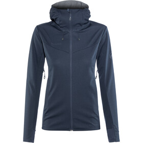 Mammut Ultimate V SO Hooded Jacket Damen marine-titanium melange
